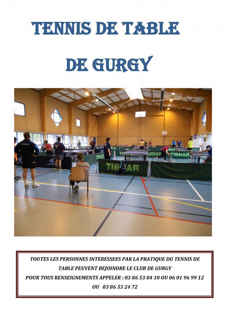 Tennis de table à Gurgy