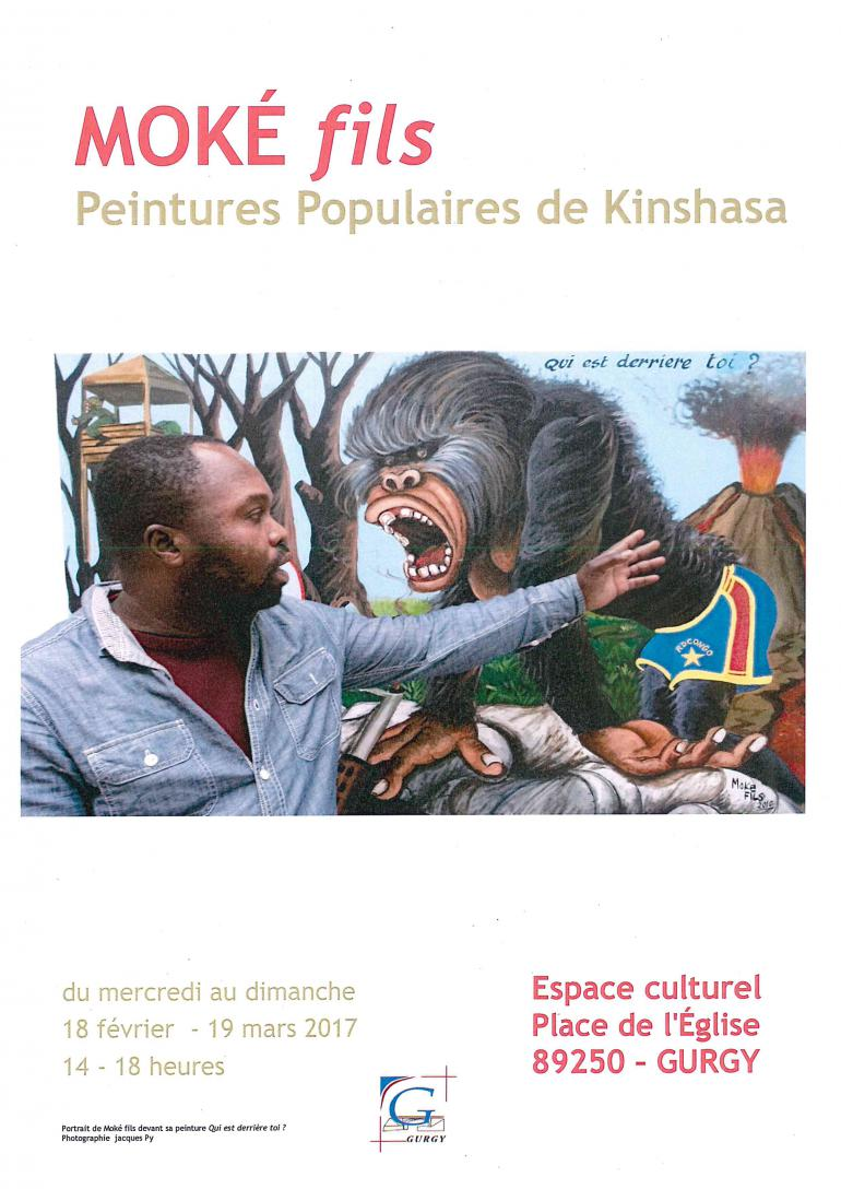 Exposition de Moké Fils - Peintures populaires de Kinshasa