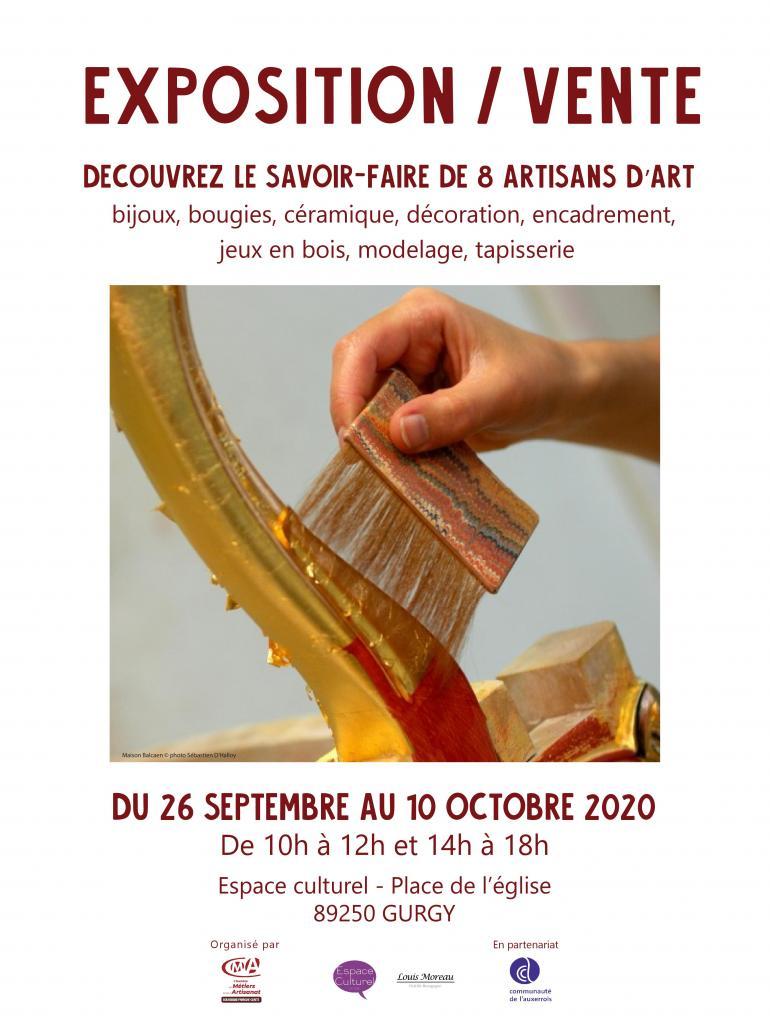 Exposition découvrez le savoir-faire de 8 artisans d'art