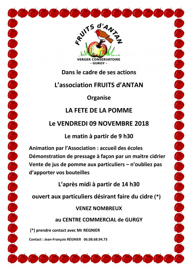 Fête de la pomme - Association Fruits d'Antan