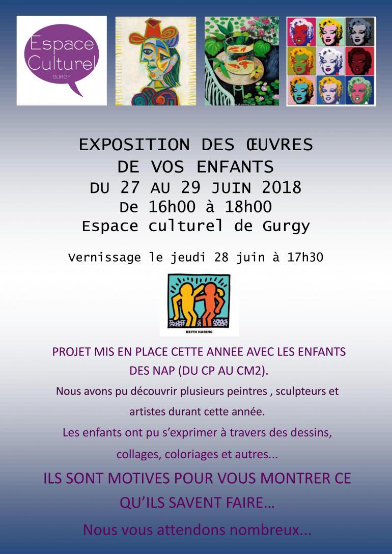 Exposition des enfants des NAP de Gurgy - Espace culturel
