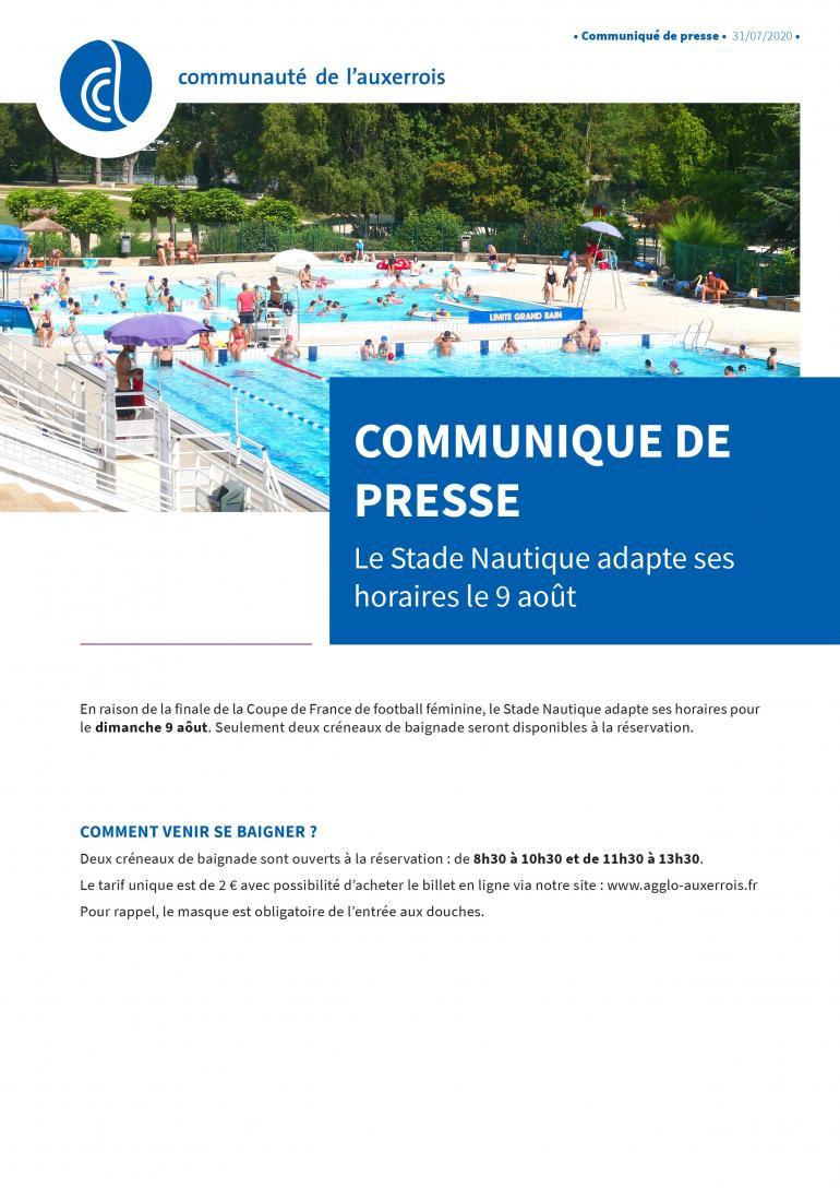 Stade nautique - 9 août 2020