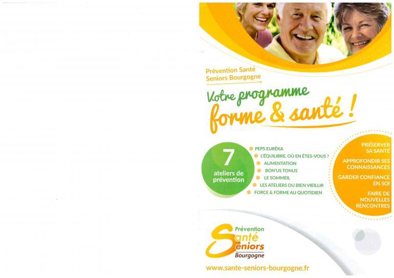 Ateliers de la mutualité française - Programme forme et santé