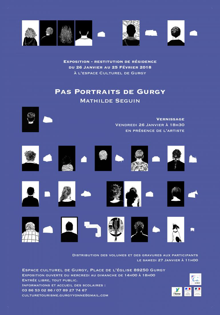 "Exposition - Mathilde Seguin ""Pas portraits de Gurgy"""
