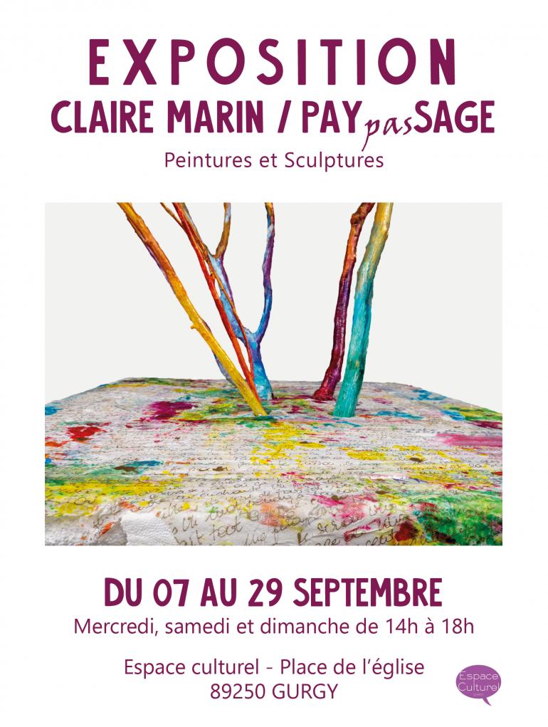 """Exposition """"PAYpasSAGE"""" de Claire Marin"""