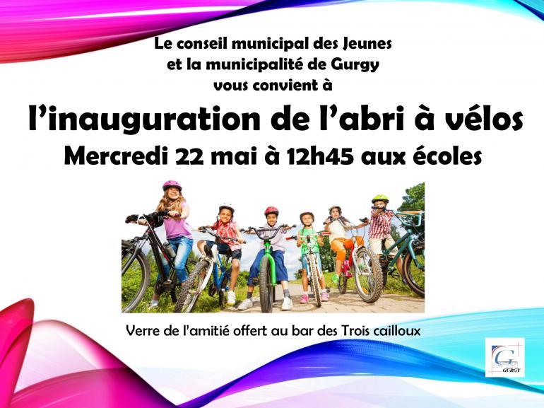 Inauguration de l'abri à vélos des écoles