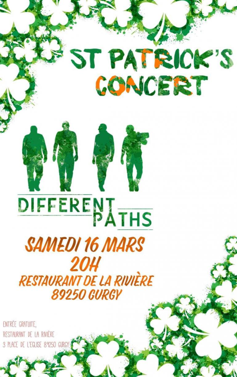 Concert de la Saint Patrick - Restaurant de la Rivière