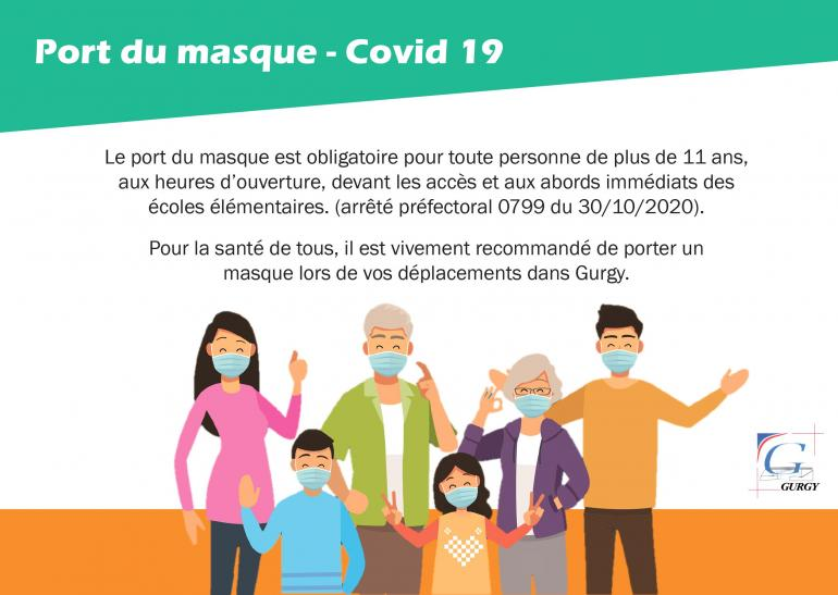 Port du masque aux abords des écoles
