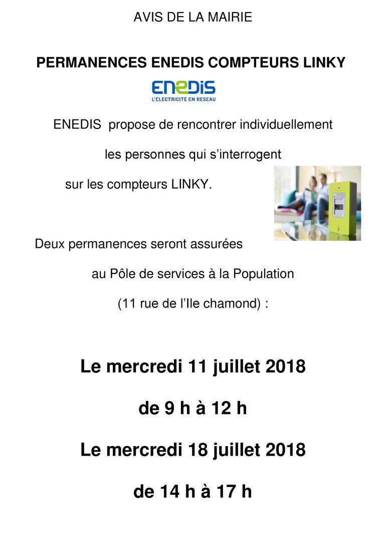 Permanences ENEDIS - compteurs Linky