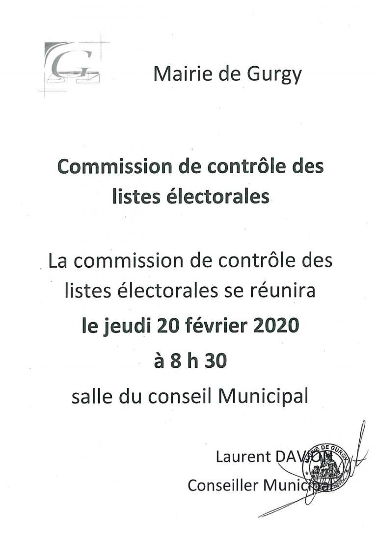 Commission de contrôle des listes électorales