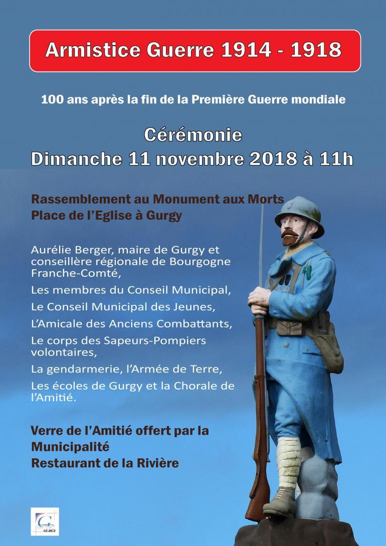 Commémoration de l'armistice / guerre 1914 - 1918