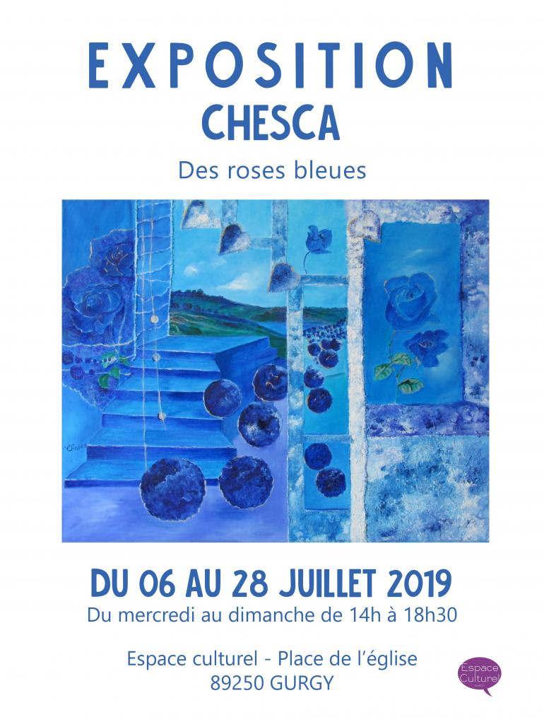 """Exposition """"des roses bleues"""" de CHESCA"""