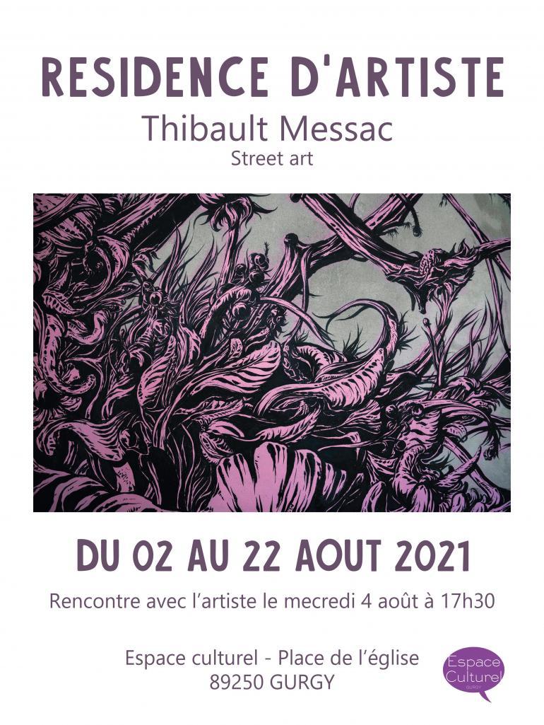 Résidence d'artiste avec Thibault Messac