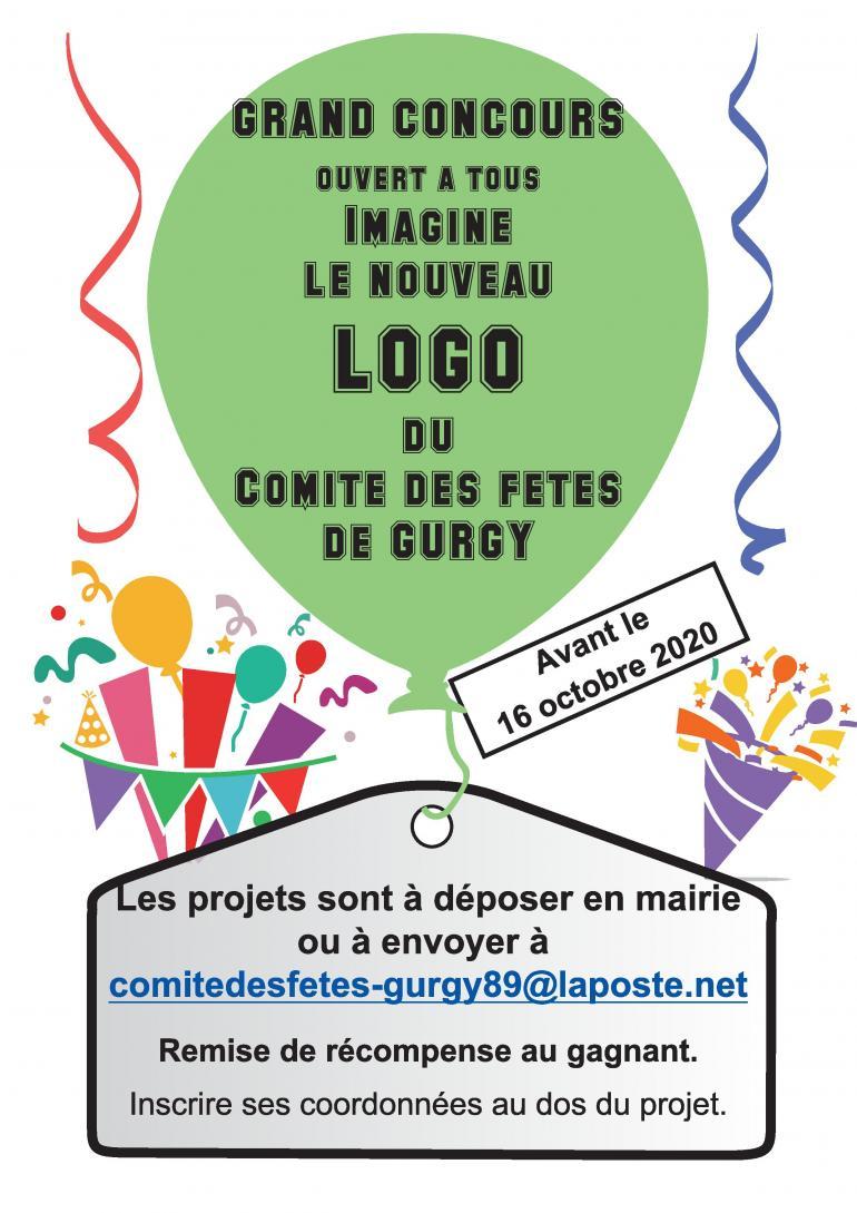 Concours logo - Le comité des fêtes de Gurgy